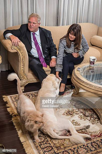 TORONTO ON OCTOBER 12 Doug Ford and his wife Karla sit down for an exclusive photograph and interview in their home with the Toronto Star's Linda...