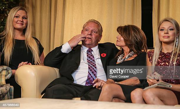 TORONTO ON OCTOBER 27 Doug Ford puts his hand to his face as he sits with his wife Karla in the basement of the Ford family home in Toronto October...