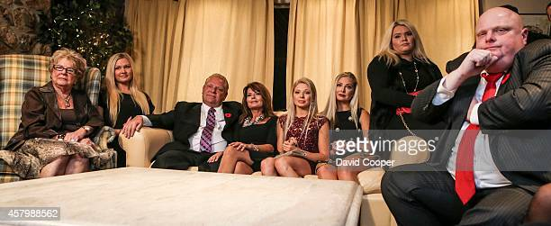 TORONTO ON OCTOBER 27 Doug Ford sits with his mother Diane and his wife Karla and all four of his daughters in the basement of the Ford family home...
