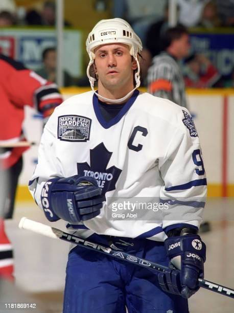 Doug Gilmour of the Toronto Maple Leafs skates against the New Jersey Devils during NHL game action on December 10, 1996 at Maple Leaf Gardens in...