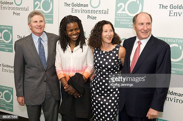 Doug Goldman, singer Tracy Chapman, Susie Gelman and John Goldman arrive at the 20th Anniversary Ceremony of the 'Green Nobel' at the San Francisco...