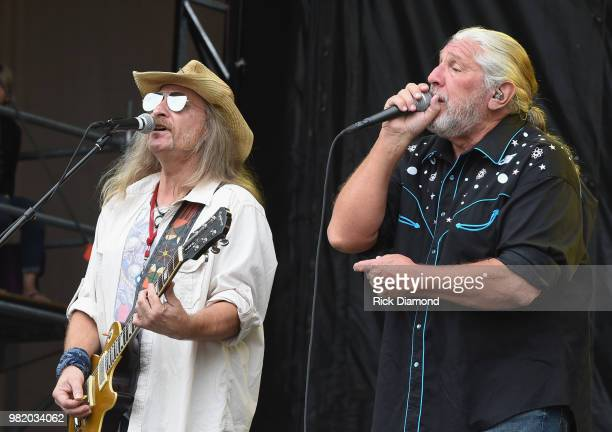 Doug Gray of The Marshall Tucker Band performs during Kicker Country Stampede - Day 2 at Tuttle Creek State Park on June 22, 2018 in Manhattan,...