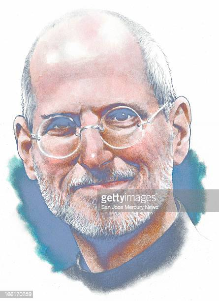 Doug Griswold illustration of Apple CEO Steve Jobs
