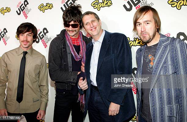 Doug Herzog and Taking Back Sunday during 2005 Spike TV Video Game Awards Red Carpet at Gibson Amphitheater in Universal City California United States