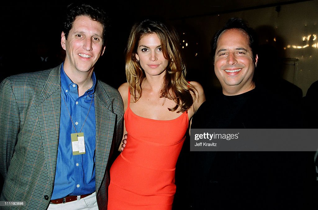 Doug Herzog, Cindy Crawford & Jon Lovitz during 1995 MTV