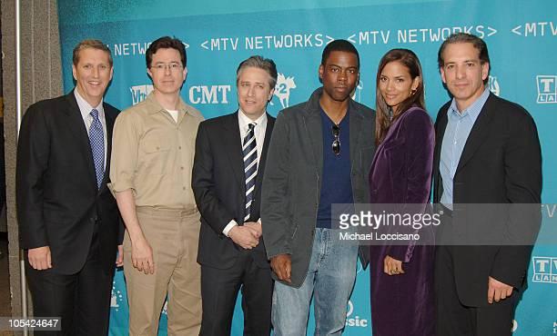 Doug Herzog Comedy Central and Spike TV President Stephen Colbert Jon Stewart Chris Rock Halle Berry and Van Toffler MTV Networks Group President