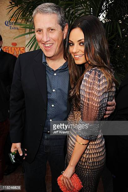 Doug Herzog President of MTV Networks Entertainment Group and Actress Mila Kunis arrive at Spike TV's 5th annual 2011 Guys Choice Awards at Sony...