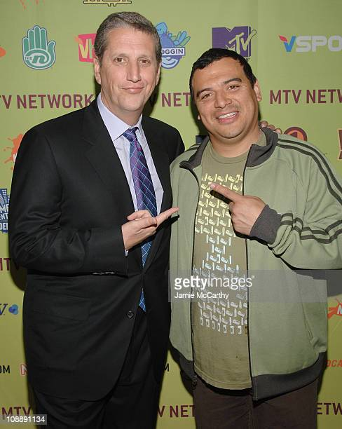 Doug Herzog president of Spike Comedy Central and TV Land and Carlos Mencia