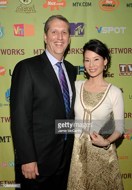 Doug Herzog president of Spike Comedy Central and TV Land and Lucy Liu