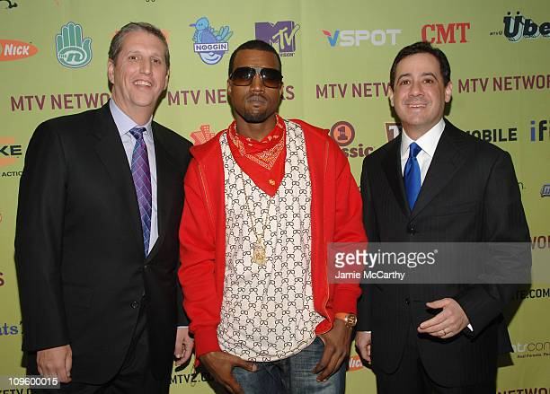 Doug Herzog president of Spike Comedy Central and TV Land Kanye West and Michael Wolf COO of MTV networks