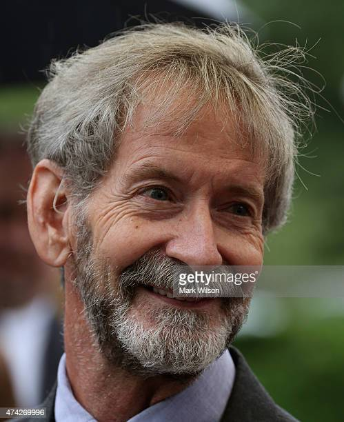Doug Hughes the pilot of the gyrocopter that landed on the grounds of the US Capitol smiles as he speaks to the media after appearing in federal...