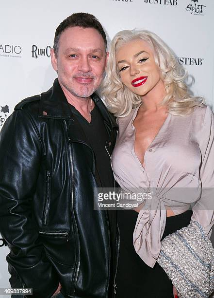 Doug Hutchison and Courtney Stodden attend Hollywood Rocks Presents Jason Derulo listening party for Everything Is 4 at The Argyle on April 15 2015...