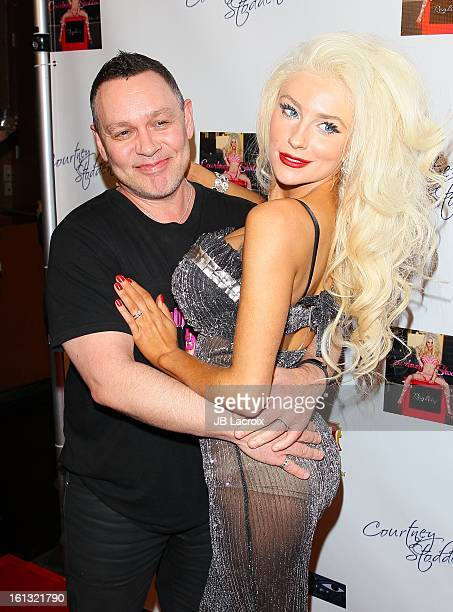 Doug Hutchison and Courtney Stodden celebrate her new 'Reality' music video at Eleven NightClub on February 9 2013 in West Hollywood California