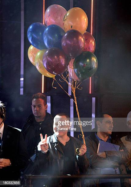 Doug Hutchison cheers on his wife Courtney Stodden who is a housemate in the Celebrity Big Brother House at Elstree Studios on September 11 2013 in...