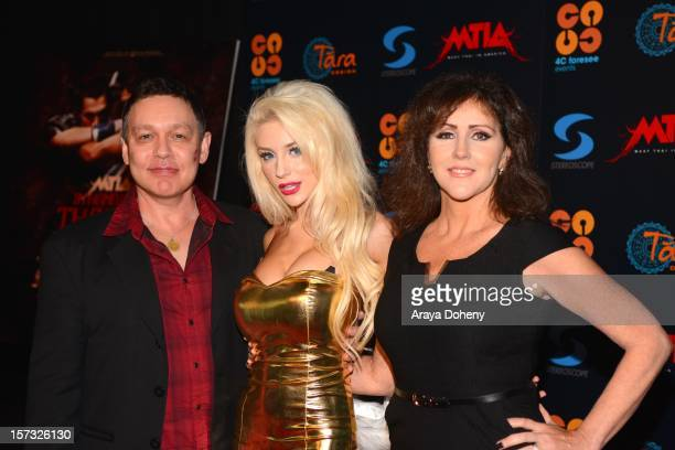 Doug Hutchison Courtney Stodden and Krista Keller Stodden attend the Muay Thai in America In Honor Of The King Celebrity VIP Event at Raleigh Studios...