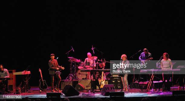 Doug Jackson Ken Stacey Mary Harris Burleigh Drummond Christopher North and Joe Puerta of Ambrosia perform at Rock The Yacht 2019 at Mayo Center...