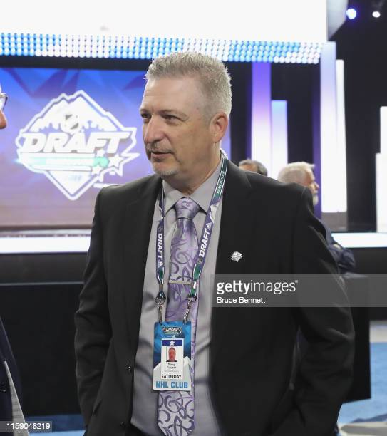 Doug Jasper of the Vancouver Canucks attends the 2019 NHL Draft at the Rogers Arena on June 22 2019 in Vancouver Canada
