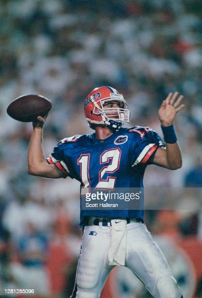 Doug Johnson, Quarterback for the University of Florida Gators prepares to throw the ball downfield during the NCAA Conference USA college football...
