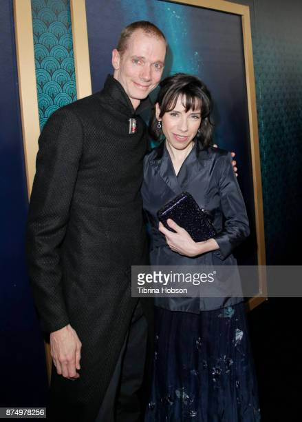 Doug Jones and Sally Hawkins attend the premiere of 'The Shape Of Water' at Academy Of Motion Picture Arts And Sciences on November 15 2017 in Los...