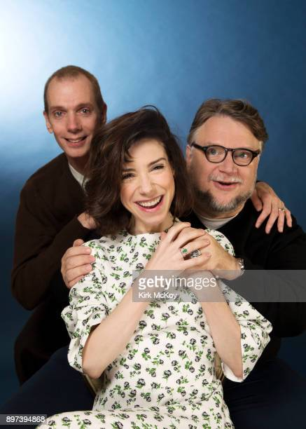 Doug Jones Guillermo del Toro Sally Field of 'The Shape of Water' are photographed for Los Angeles Times on November 17 2017 in Los Angeles...
