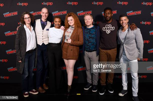 Doug Jones, Sonequa Martin-Green, Mary Wiseman, Anthony Rapp, David Ajala and Wilson Cruz attend New York Comic Con 2019 Day 3 at the Hulu Theater at...