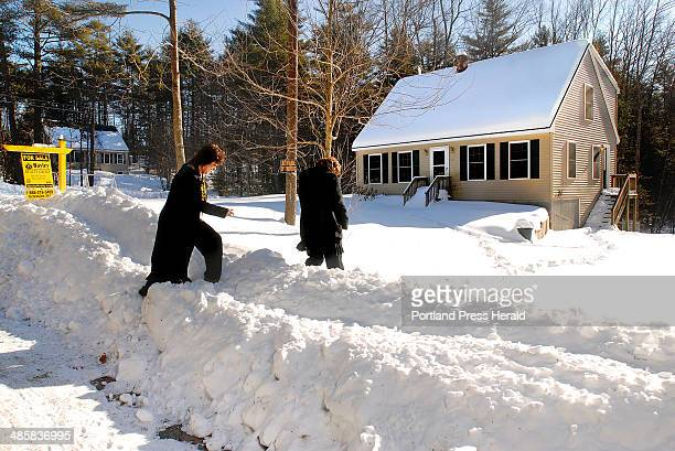 Doug Jones/Staff Photographer Tuesday January 27 2009 Julie Bayley's agents Michelle Clark left and Michelle Fournier in Waterboro are prepared to...