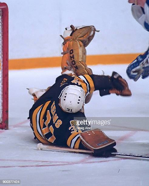Doug Keans of the Boston Bruins skates against the Toronto Maple Leafs during NHL game action on November 24 1986 at Maple Leaf Gardens in Toronto...