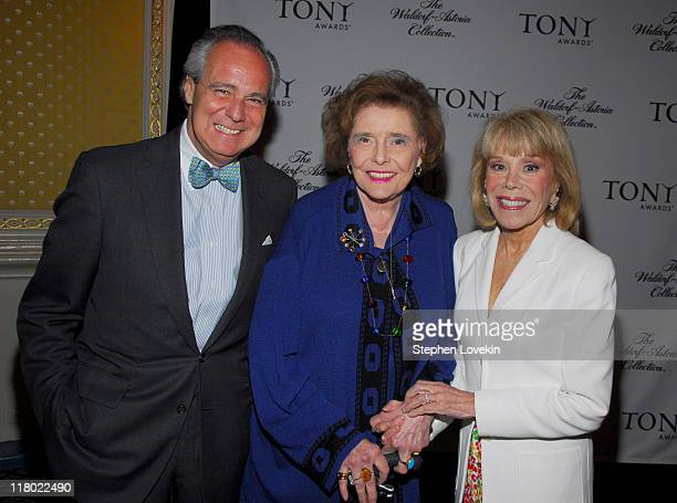 Doug Leeds Patricia Neal and Sondra Gilman during 60th Annual Tony Awards Cocktail Celebration at The Waldorf Astoria in New York City New York...
