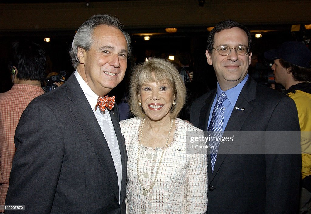Doug Leeds, Sandra Gillman and Howard Sherman during 58th Annual Tony Awards Nominee Announcements at Hudson Theater in New York City, New York, United States.