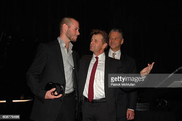 Doug Letheren, Mikhail Baryshnikov and Efraim Grinberg attend MOVADO with John F. Kennedy Center for the Performing Arts; Cooper-Hewitt, National...