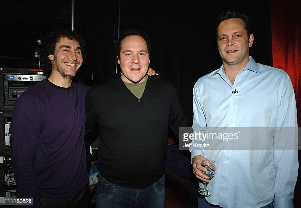 Doug Liman Jon Favreau and Vince Vaughn during 2006 US Comedy Arts Festival Aspen 'Swingers' 10th Anniversary Backstage at St Regis Ballroom in Aspen...