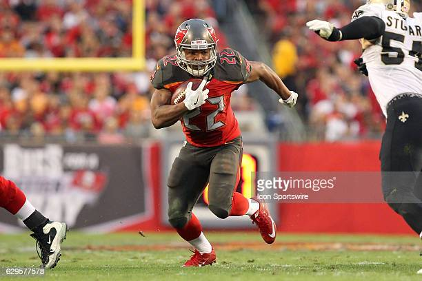 Doug Martin of the Buccaneers carries the ball during the NFL Game between the New Orleans Saints and Tampa Bay Buccaneers on December 11 at Raymond...