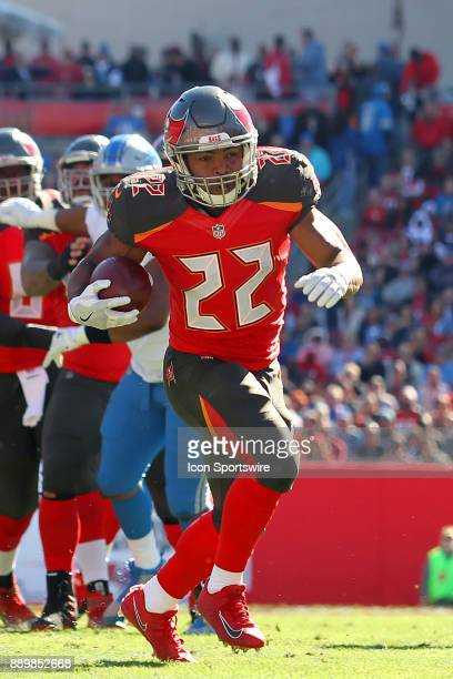 Doug Martin of the Bucs carries the ball during the regular season game between the Detroit Lions and the Tampa Bay Buccaneers on December 10 2017 at...