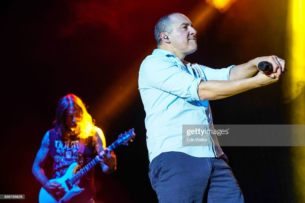 Doug Martinez of 311 performs at Hollywood Palladium on August 19, 2017 in Los Angeles, California.