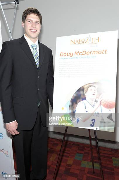 Doug McDermott attends the NABC Guardians of the Game Awarding of the Naismith Trophy Presented by ATT at Georgia World Congress Center on April 7...