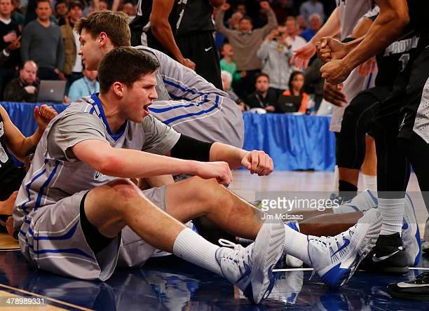Doug McDermott of the Creighton Bluejays reacts during their 65 to 58 loss to the Providence Friars during the Championship game of the 2014 Men's...