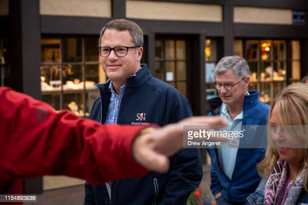 Doug McMillon chief executive officer of Walmart attends the annual Allen Company Sun Valley Conference July 10 2019 in Sun Valley Idaho Every July...
