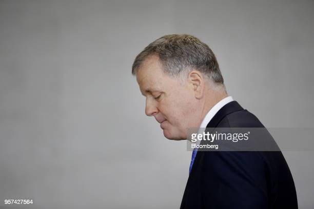 Doug Parker chairman and chief executive officer of American Airlines Group Inc pauses while speaking during an event to mark the opening of five new...