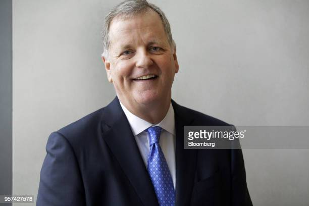 Doug Parker chairman and chief executive officer of American Airlines Group Inc stands for a photograph during an event to mark the opening of five...