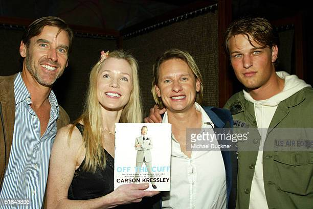 Doug Pickett Jackie Swanson TV personality Carson Kressley and Andrew Smith attend a discussion about Kressley's new book Off The Cuff at the W Hotel...