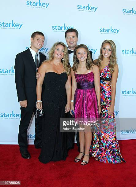 Doug Pitt and family attend the Starkey Hearing Foundation's So The World May Hear Awards Gala 2011 at River Centre on July 24 2011 in St Paul...