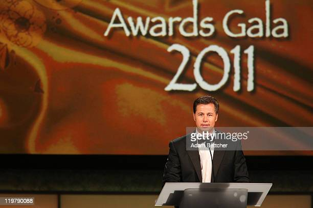 Doug Pitt philanthropist and brother to Brad Pitt attends the Starkey Hearing Foundation's So The World May Hear Awards Gala 2011 at River Centre on...