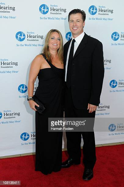 Doug Pitt with wife Lisa attends the 2010 Starkey Hearing Foundation 10th Annual So the World May Hear Gala at St Paul RiverCentre on July 25 2010 in...