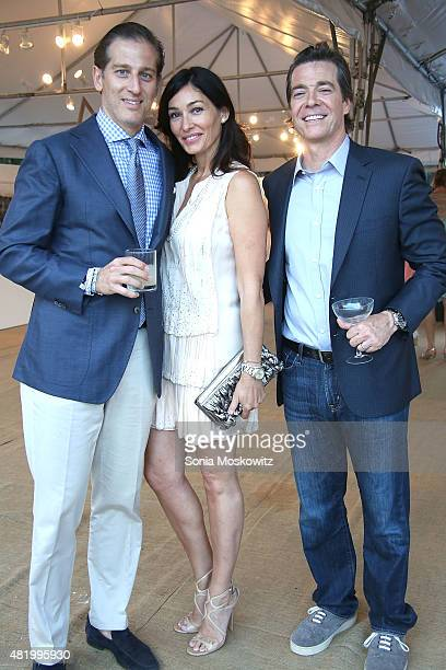 Doug Polley Dara Tomanovich and Dusty Philip attend the 22nd Annual Summer Benefit and Auction Circus of Stillness at The Watermill Center on July 25...