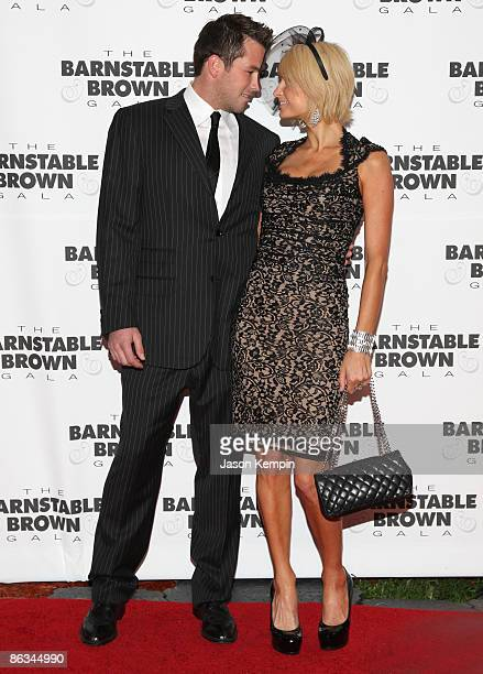 Doug Reinhardt and Paris Hilton attend the Barnstable Brown Party Celebrating The 135th Kentucky Derby at Barnstable Brown House on May 1 2009 in...