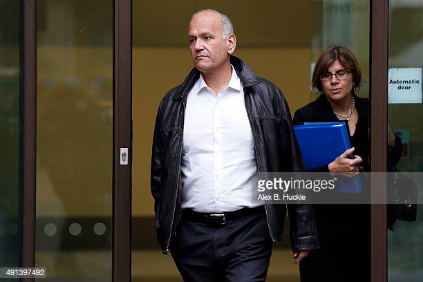 Doug Richard leaves Westminster Magistrates Court on October 5 2015 in London England Richard is accused of three counts of sexual activity with a...