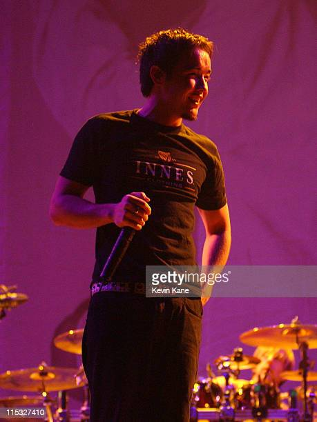 Doug Robb of Hoobastank during Meteora World Tour-Featuring: Linkin Park, P.O.D., Hoobastank, and Story Of The Year. At Nassau Coliseum in Uniondale,...