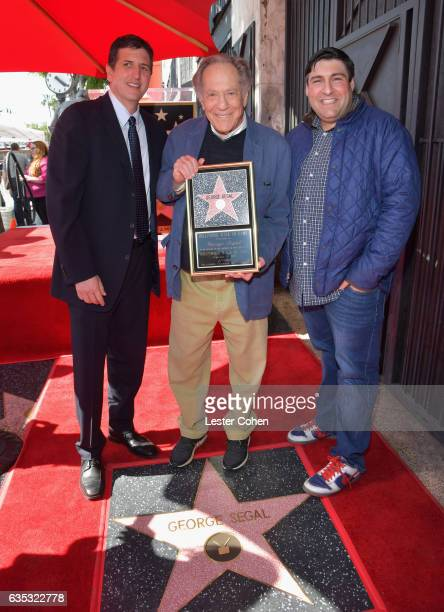 Doug Robinson actor George Segal and executive producer of 'The Golderbergs' Adam F Goldberg attend George Segal's star ceremony on the Hollywood...