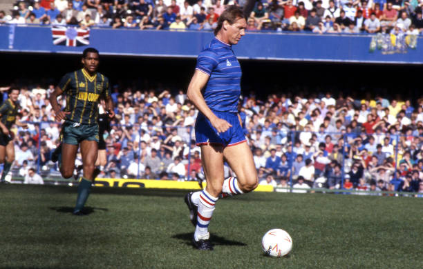 Doug Rougvie of Chelsea in action during the Canon League Division One match between Chelsea and Leicester City held on September 29, 1984 at...