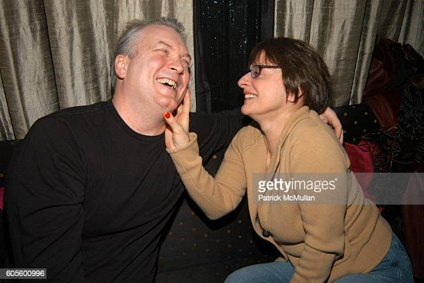 Doug Saputo and Patti LuPone attend Valentine's Day Cocktail Party hosted by Abby Weisman and Robin Navrozov at Serena's on February 14 2006 in New...